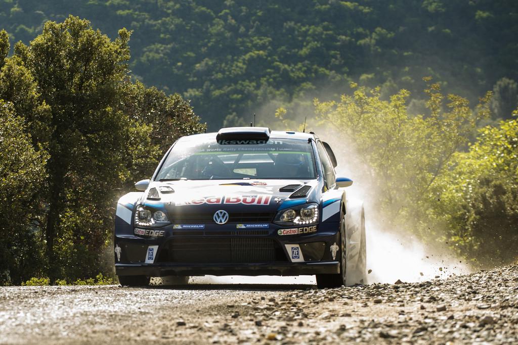 Sebastien Ogier (FRA) performs during  FIA World Rally Championship 2016 France in Ajaccio , France on October 1, 2016