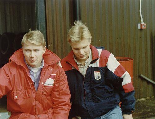 Мика Хакинен и Юха Сало (1990)